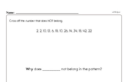 Free Third Grade Number Sense PDF Worksheets Worksheet #1