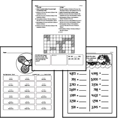 Number Sense - Multi-Digit Numbers Workbook (all teacher worksheets - large PDF)
