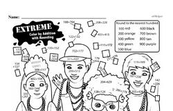 Free Third Grade Number Sense PDF Worksheets Worksheet #21