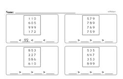 Free Third Grade Number Sense PDF Worksheets Worksheet #1