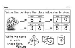 Free Third Grade Number Sense PDF Worksheets Worksheet #44