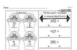Third Grade Number Sense Worksheets Worksheet #86
