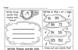 Third Grade Number Sense Worksheets Worksheet #54