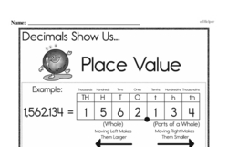 Third Grade Number Sense Worksheets Worksheet #94