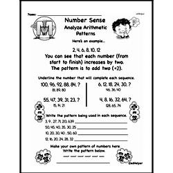 Third Grade Number Sense Worksheets Worksheet #1