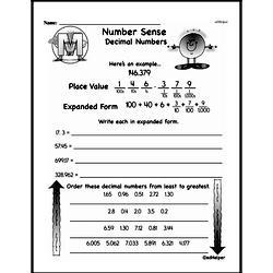 Third Grade Number Sense Worksheets Worksheet #2