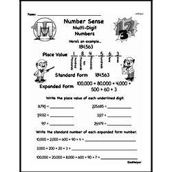 Third Grade Number Sense Worksheets Worksheet #3