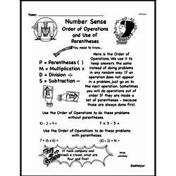 Third Grade Number Sense Worksheets Worksheet #4