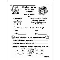 Third Grade Number Sense Worksheets Worksheet #5