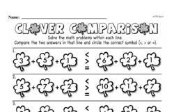 Third Grade Number Sense Worksheets Worksheet #20