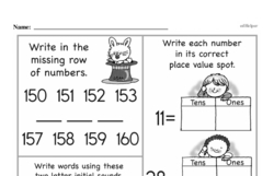 Third Grade Number Sense Worksheets Worksheet #71