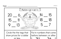 Third Grade Number Sense Worksheets Worksheet #34