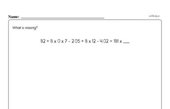 Number Sense Mixed Math PDF Workbook for Third Graders