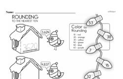 Third Grade Number Sense Worksheets Worksheet #40