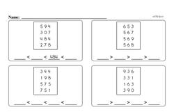 Third Grade Number Sense Worksheets Worksheet #64