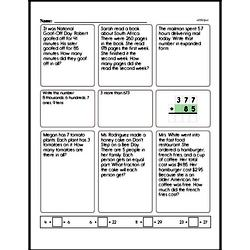 Third Grade Number Sense Worksheets Worksheet #8