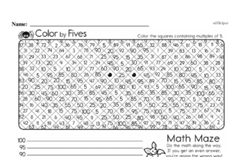 Patterns - Number Patterns Mixed Math PDF Workbook for Third Graders