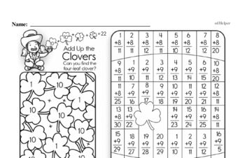Patterns Mixed Math PDF Workbook for Third Graders