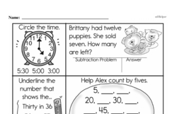 Free Third Grade Subtraction PDF Worksheets Worksheet #7