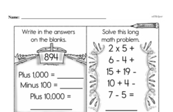 Free Third Grade Subtraction PDF Worksheets Worksheet #73