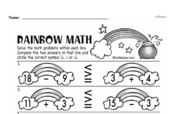 Free Third Grade Subtraction PDF Worksheets Worksheet #49