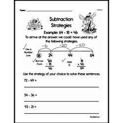 Third Grade Subtraction Worksheets Worksheet #1