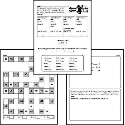 Free PDF Math Worksheets | edHelper com