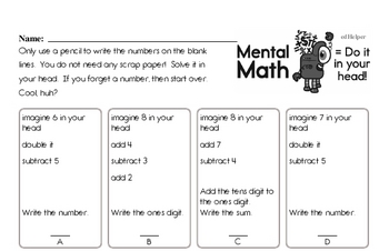 Subtraction Mixed Math PDF Workbook for Third Graders