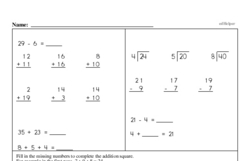 Free Third Grade Subtraction PDF Worksheets Worksheet #37