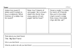 Free Third Grade Subtraction PDF Worksheets Worksheet #5