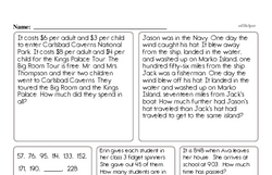 Free Third Grade Subtraction PDF Worksheets Worksheet #40