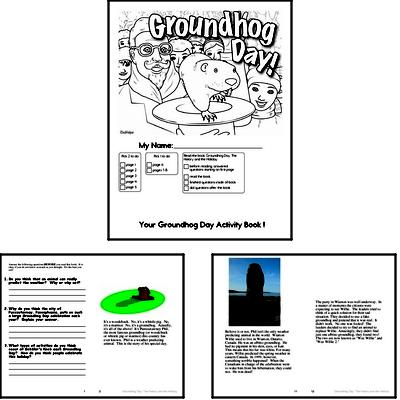 Third Grade Groundhog Day Worksheets Activity Book