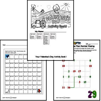 Third Grade Valentine's Day Worksheets Activity Book