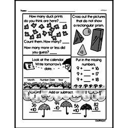 Third Grade Time Worksheets - Days, Weeks and Months on a Calendar Worksheet #1