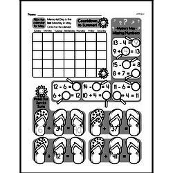 Third Grade Time Worksheets - Days, Weeks and Months on a Calendar Worksheet #2