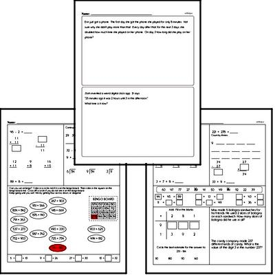 Free Third Grade Time PDF Worksheets | edHelper.com