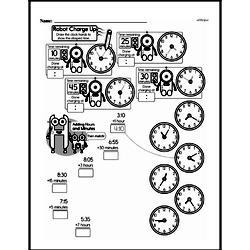 Third Grade Time Worksheets - Elapsed Time Worksheet #3