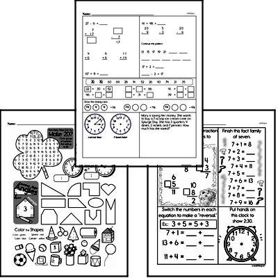 Time - Time to the Minute Mixed Math PDF Workbook for Third Graders