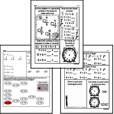 Time - Time to the Minute Workbook (all teacher worksheets - large PDF)