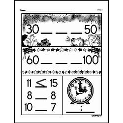 Third Grade Time Worksheets - Time to the Nearest Five Minutes Worksheet #8