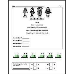 Third Grade Time Worksheets - Time to the Nearest Five Minutes Worksheet #1