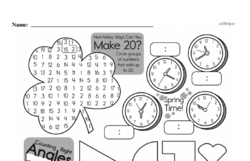 Third Grade Time Worksheets - Time to the Nearest Five Minutes Worksheet #3