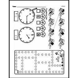 Third Grade Time Worksheets - Time to the Nearest Five Minutes Worksheet #2