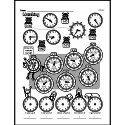 Third Grade Time Worksheets - Time to the Nearest Five Minutes Worksheet #6