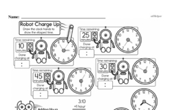 Third Grade Time Worksheets - Time to the Nearest Five Minutes Worksheet #4