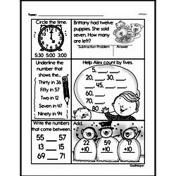 Free Third Grade Time PDF Worksheets Worksheet #8