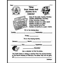 Free Third Grade Time PDF Worksheets Worksheet #1