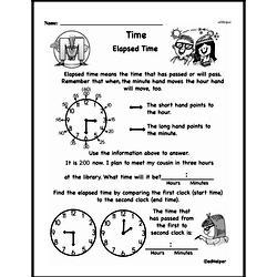 Free Third Grade Time PDF Worksheets Worksheet #2