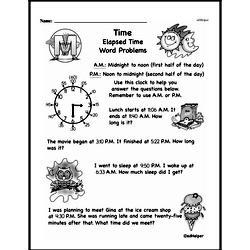 Free Third Grade Time PDF Worksheets Worksheet #3
