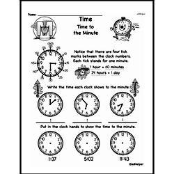 Free Third Grade Time PDF Worksheets Worksheet #4